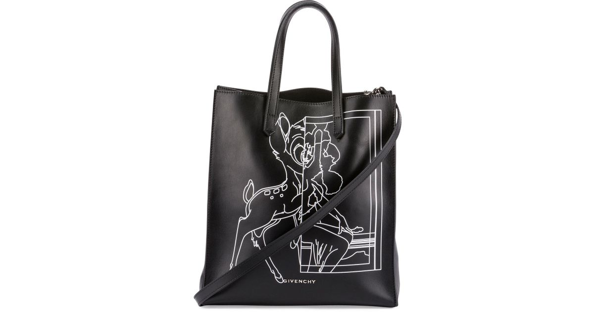 a5729beb9d89 Lyst - Givenchy Stargate Bambi Medium Shopper Tote Bag in Black