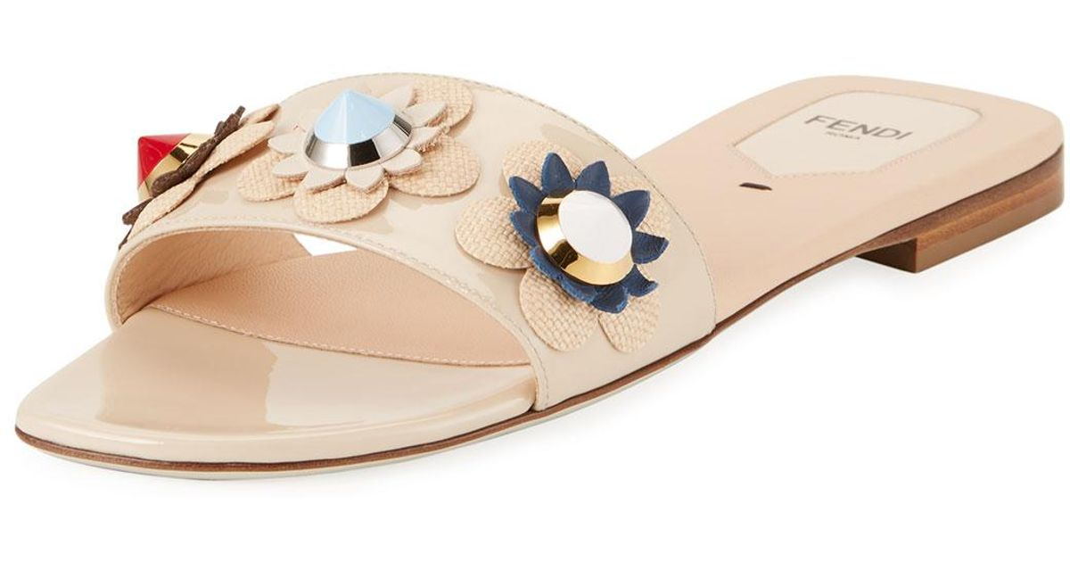 adidas Originals Multicolor Fur Flowerland Slides K9OS1FBMEE