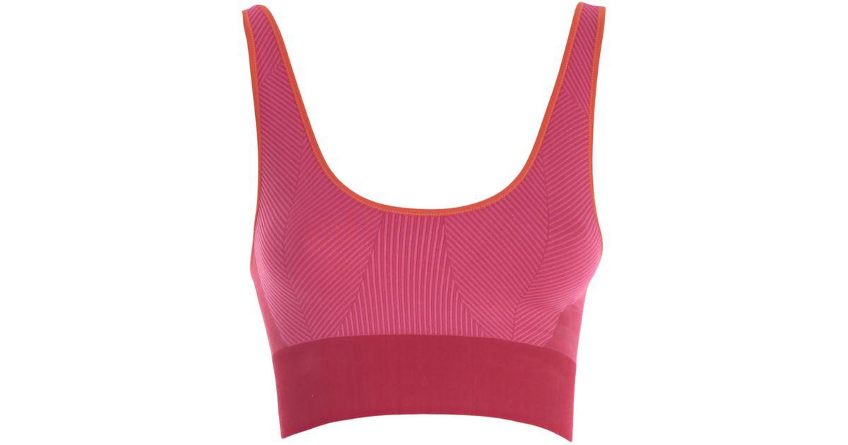 Lyst Adidas Mccartney By Stella Sujetador Mccartney Sujetador sin costuras Yoga 12895 en color rosa dd1bdef - burpimmunitet.website