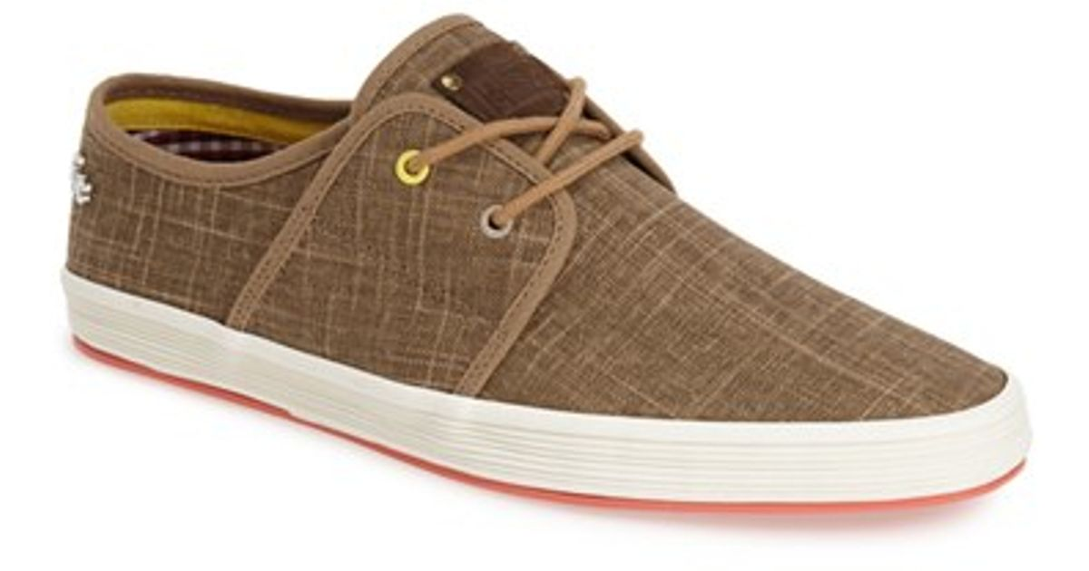 Fish n chips spam 2 canvas sneakers in brown for men lyst for Fish and chips shoes