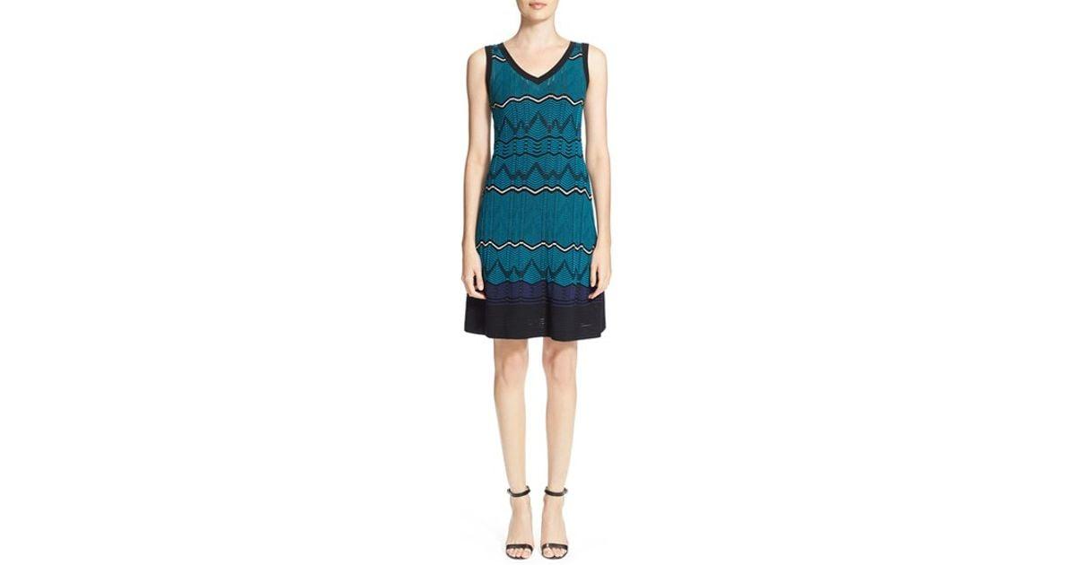 M missoni blue dress lace