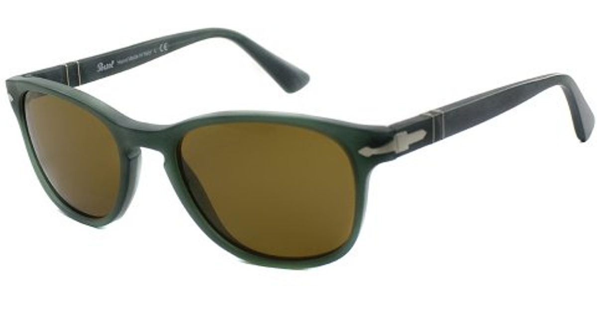 2a12b0d6d1 Lyst - Persol Superma Po 3086s 9019 33 Round Plastic Sunglasses-53mm in  Green