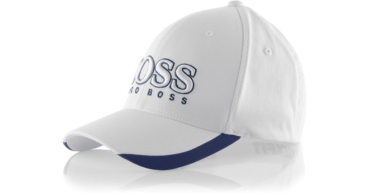 e7fb17ad BOSS Green Cap Catch With Flexfit Band in White for Men - Lyst