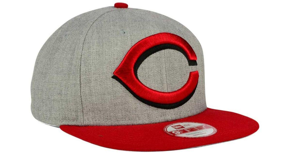 best service 295f3 55c30 Lyst - KTZ Cincinnati Reds Logo Grand 9fifty Snapback Cap in Red for Men