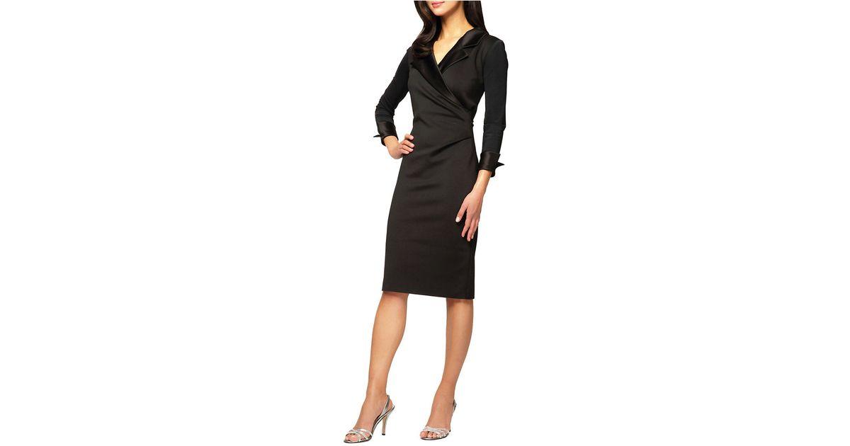 Alex Evenings Plus Scuba Wrap Dress In Black Lyst