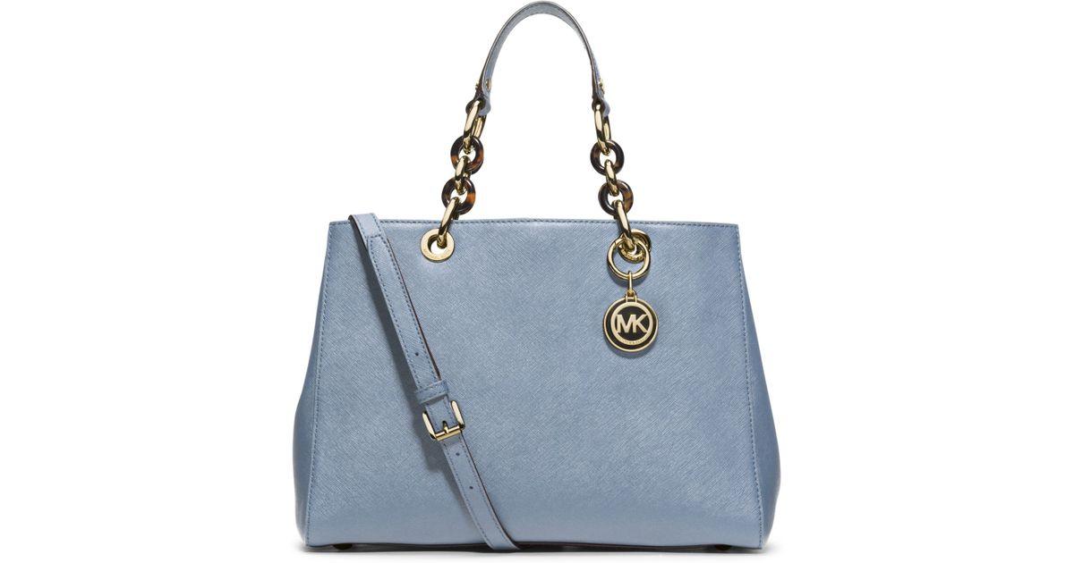 italy michael kors cynthia bag blue jacket 08207 2c73d 0464e7f4682f3