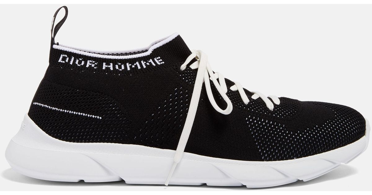 Lyst - Dior Homme Sneakers In Technical Knit in Black for Men d9db0a0b198