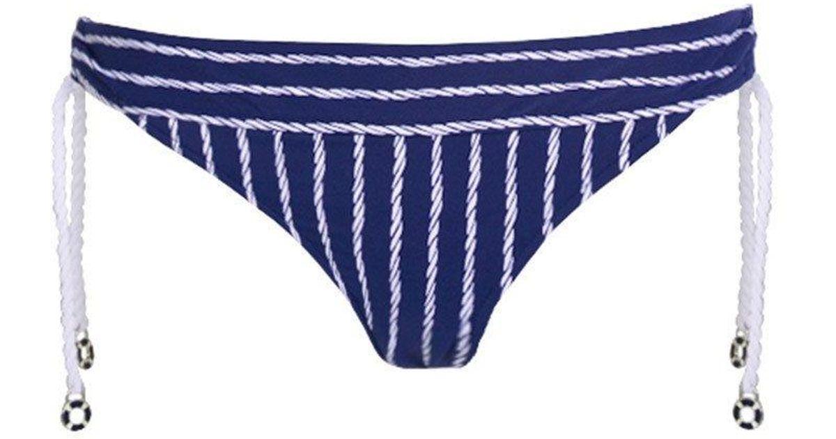 1f86e1f0c7787 Seafolly Coastline Tie Side Hipster Bikini Bottom - Indigo in Blue - Lyst