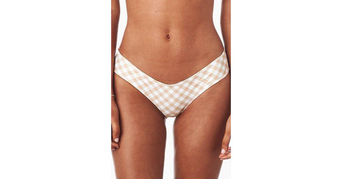 883068d57f5 Montce Swim Nu-micro Cheeky Scrunch Bikini Bottom - Barely Nude Spring  Gingham - Lyst