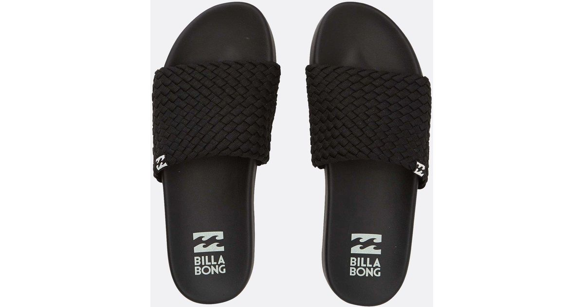 c2cc9f78fde7 Lyst - Billabong Surf Retreat Slide Sandals in Black