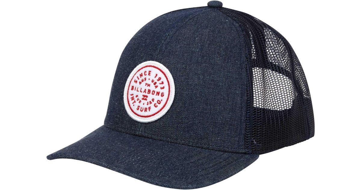 a30c8dbe442 Lyst - Billabong Walled Trucker Hat in Blue for Men