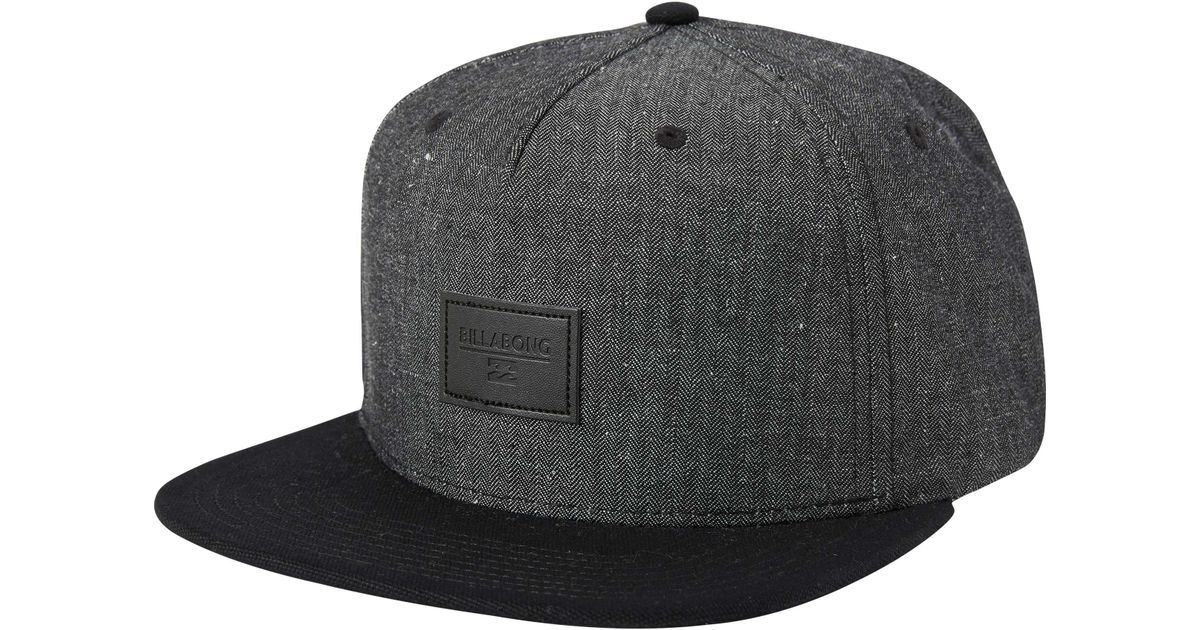 7bb20a250c114 authentic lyst billabong oxford snapback hat in black for men 42985 b9702