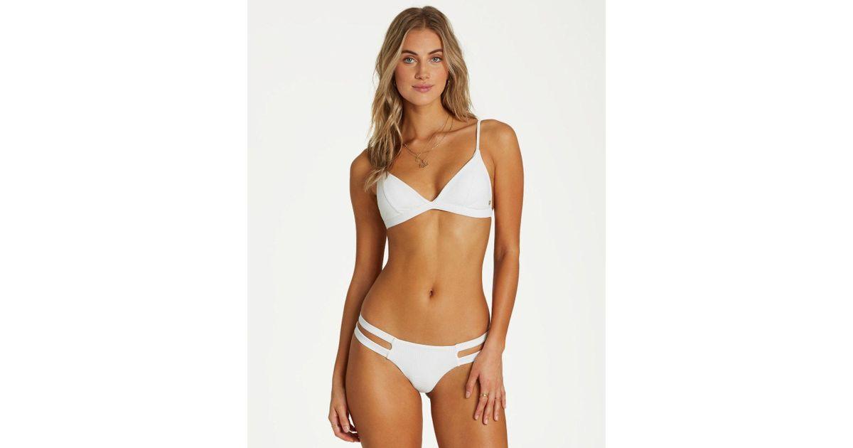 0288af1484c0 Billabong Too Salty Fix Tri Bikini Top - Lyst