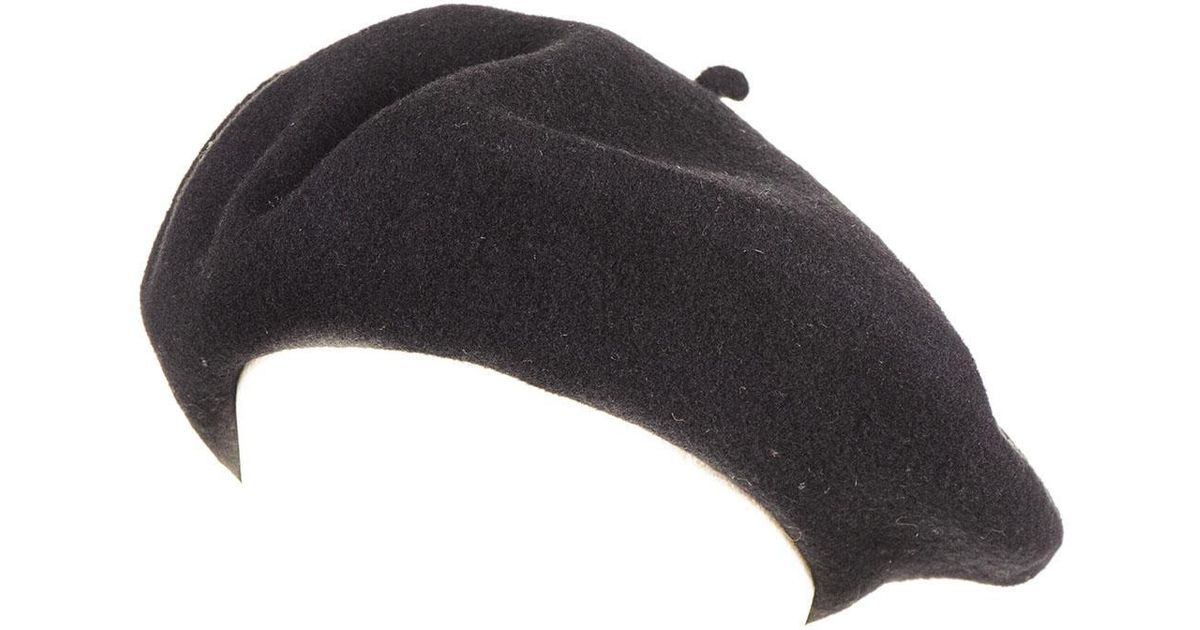 Black.co.uk Black French Wool Beret in Black for Men - Lyst 9e58bfb686f