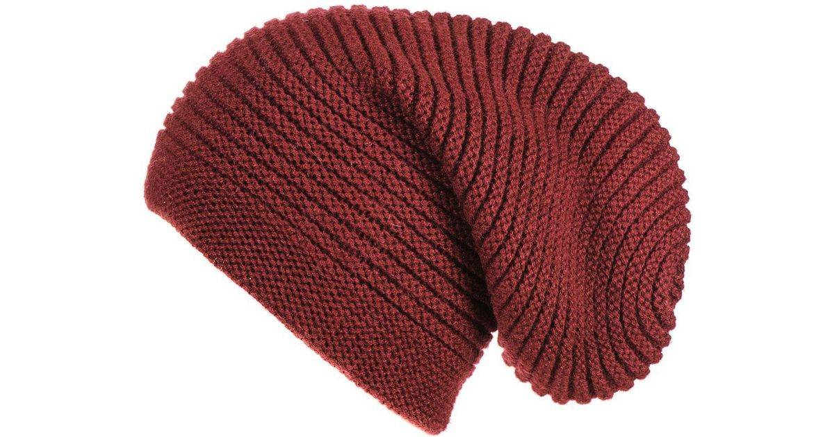 6404f7dae4c Lyst - Black.co.uk Burgundy Cashmere Slouch Beanie Hat in Red for Men