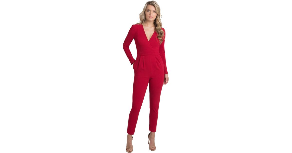 80b76d88a15 Lyst - Black Halo Andie Jumpsuit in Red