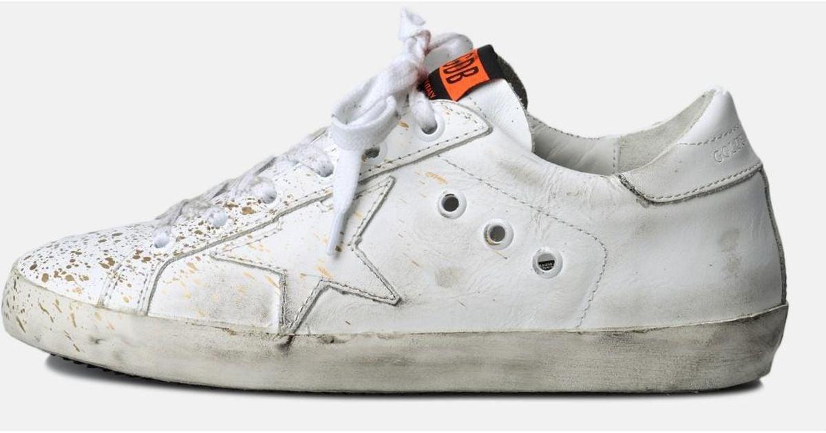 paint splatter Superstar leather sneakers - White Golden Goose iQBeny