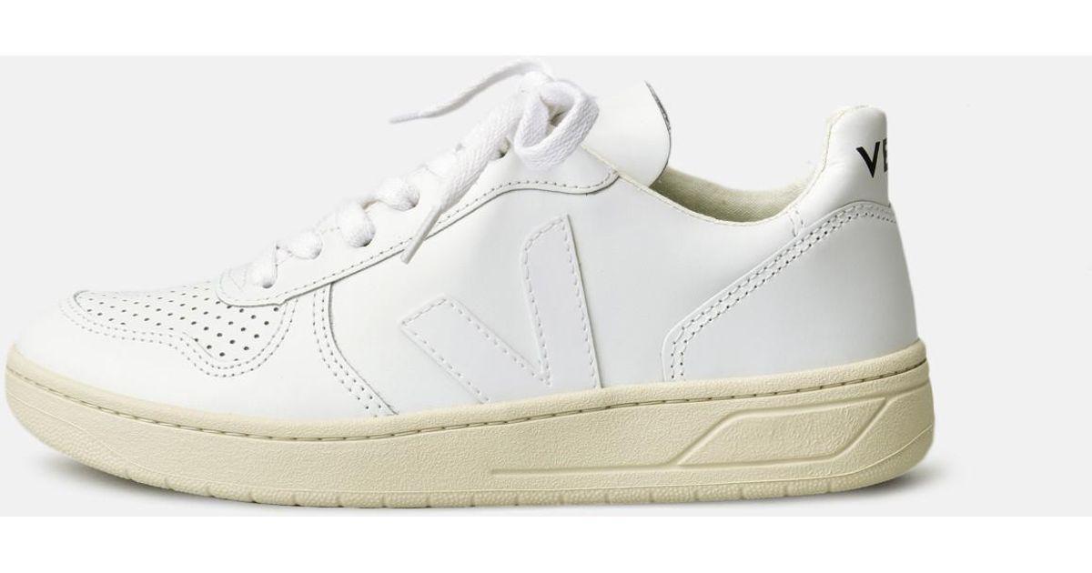 da336f5ff04d Lyst - Veja V10 Leather White Extra White in White - Save 15%