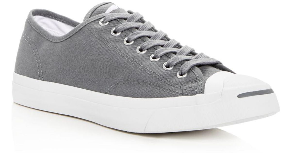 becdf448ce544c Lyst - Converse Men s Jack Purcell Lace-up Sneakers in Gray for Men