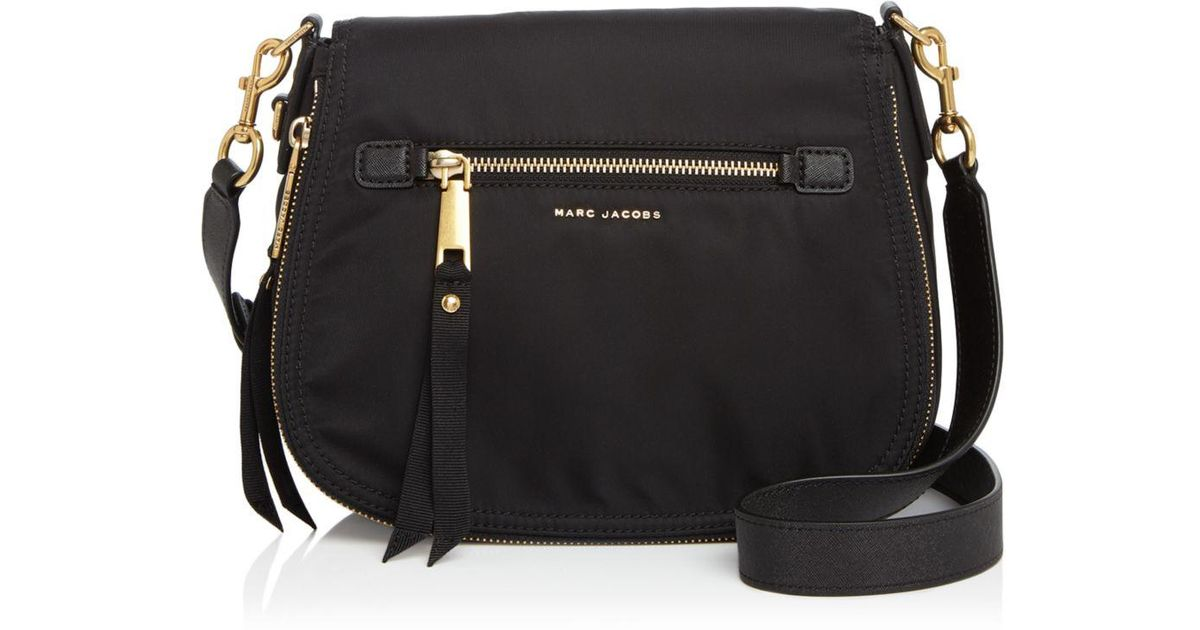 475802098828 Lyst - Marc Jacobs Trooper Nomad Saddle Bag in Black