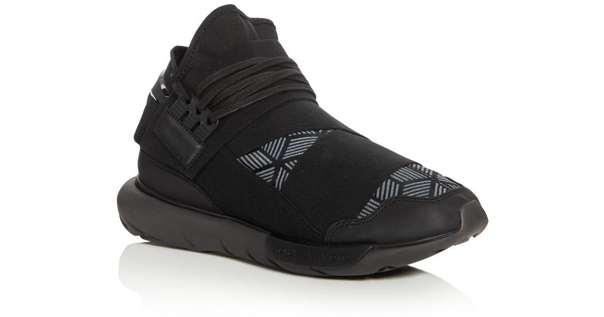645b681e376cf Lyst - Y-3 Qasa High Top Sneakers in Black for Men