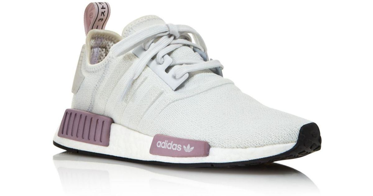 876db0103 Lyst - adidas Women s Nmd R1 Knit Lace Up Sneakers in Gray