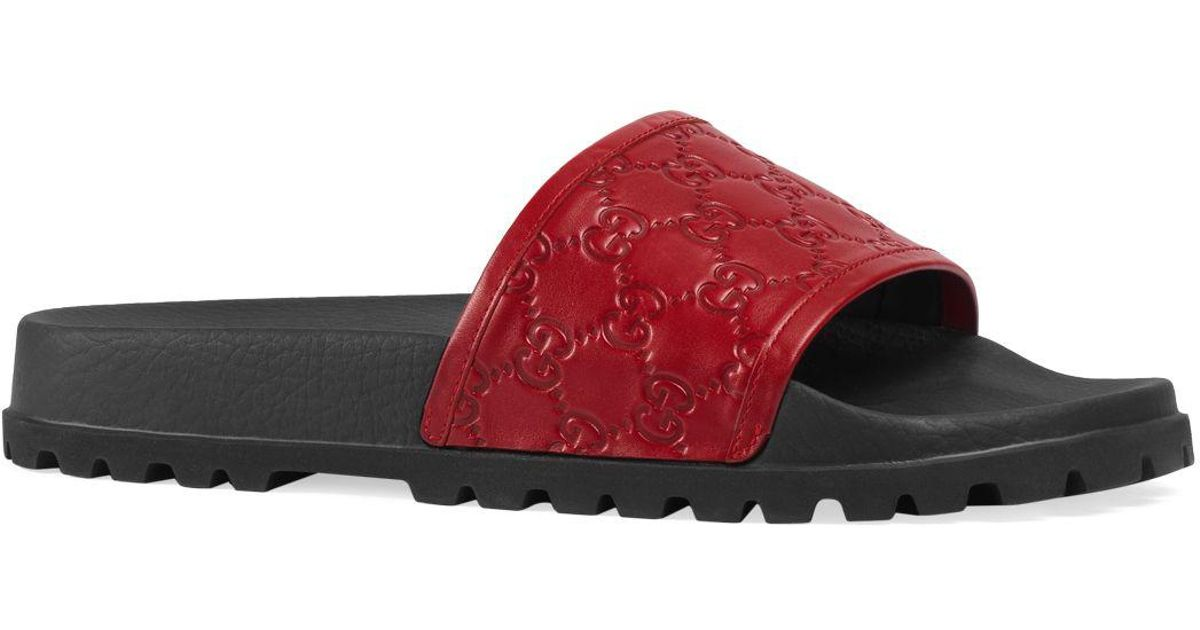 a45f036652f2 Lyst - Gucci Sandals Shoes Men in Red for Men