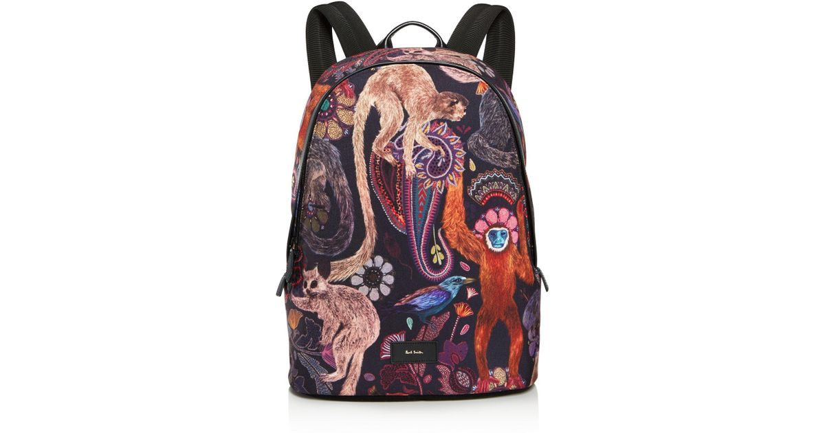 a5e137ce9 Paul Smith Printed Backpack for Men - Lyst
