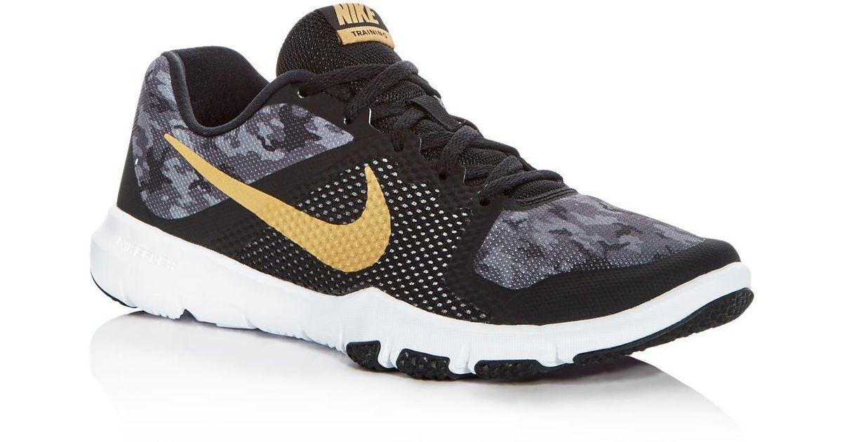 6b0610de0ae002 Lyst - Nike Men s Flex Control Camo Lace Up Sneakers in Black for Men
