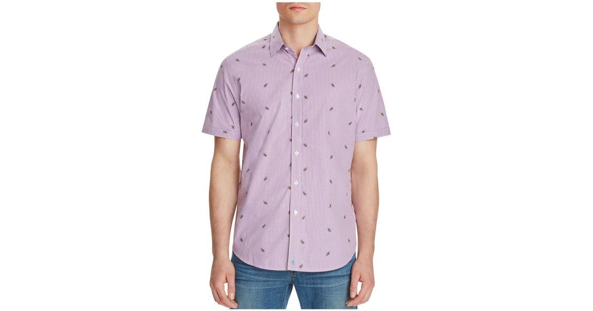 Robert graham white sea classic fit short sleeve button for White short sleeve button down shirts for men