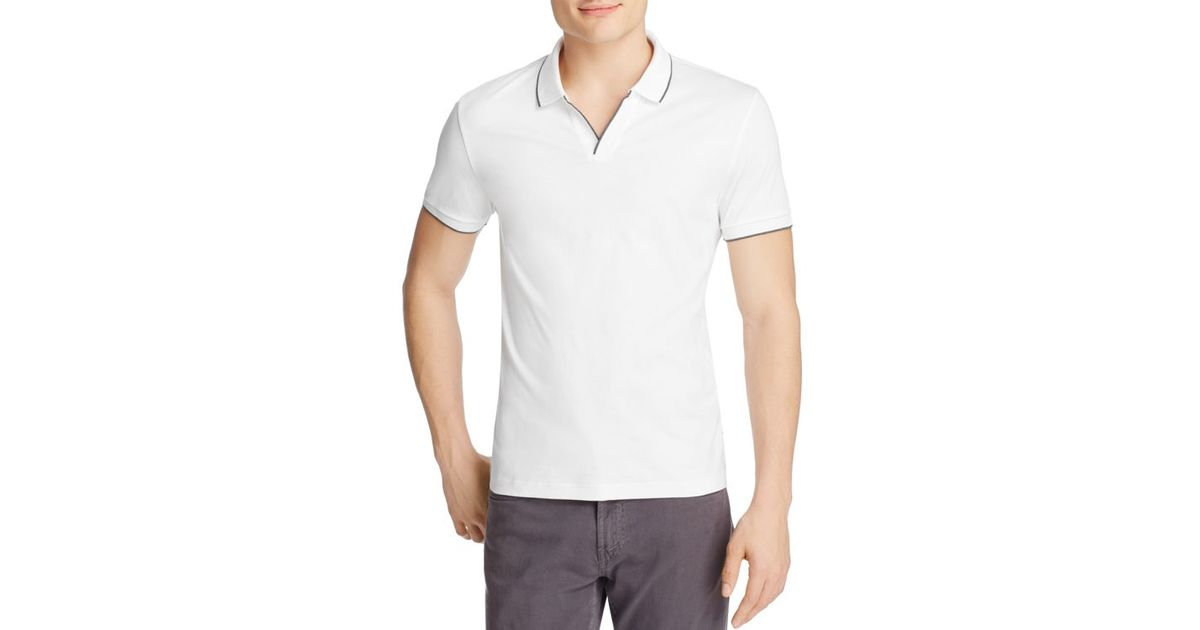 9a8e40435 Lyst - Boss Phillipson Slim Fit Polo in White for Men