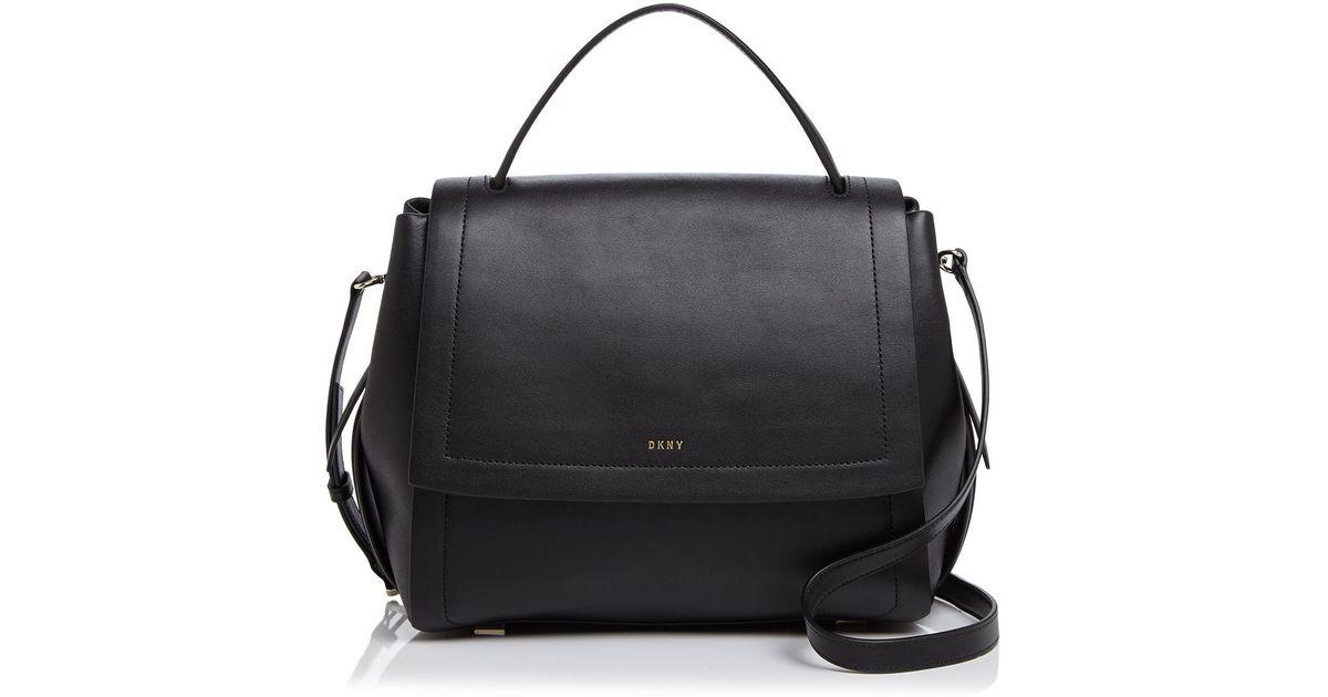 c0cd145da9e8 Lyst - DKNY Greenwich Flap Shoulder Bag in Black