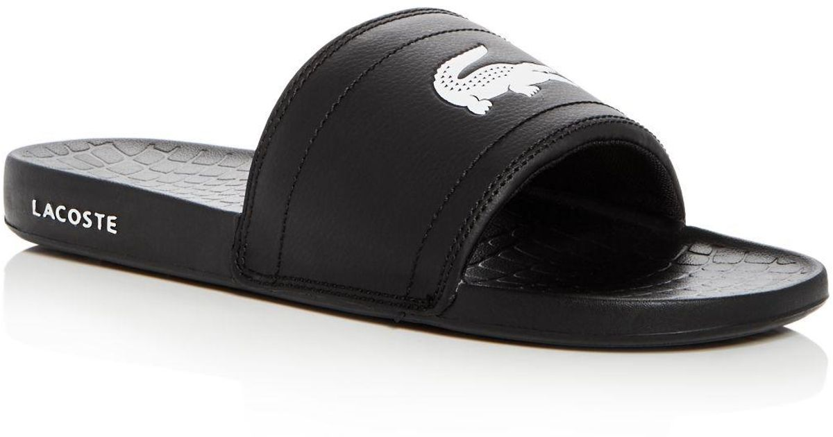 63ec492ae912 Lacoste Men s Fraisier Slide Sandals in Black for Men - Lyst