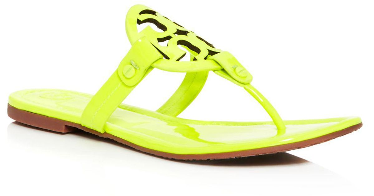 03ea1e45453 Lyst - Tory Burch Miller Patent Leather Thong Sandals