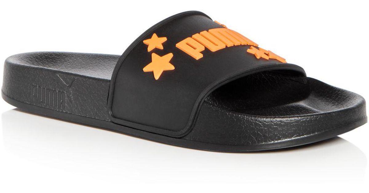8e8f57fc9a1065 Lyst - PUMA X Sophia Webster Women s Leadcat Pool Slide Sandals in Black