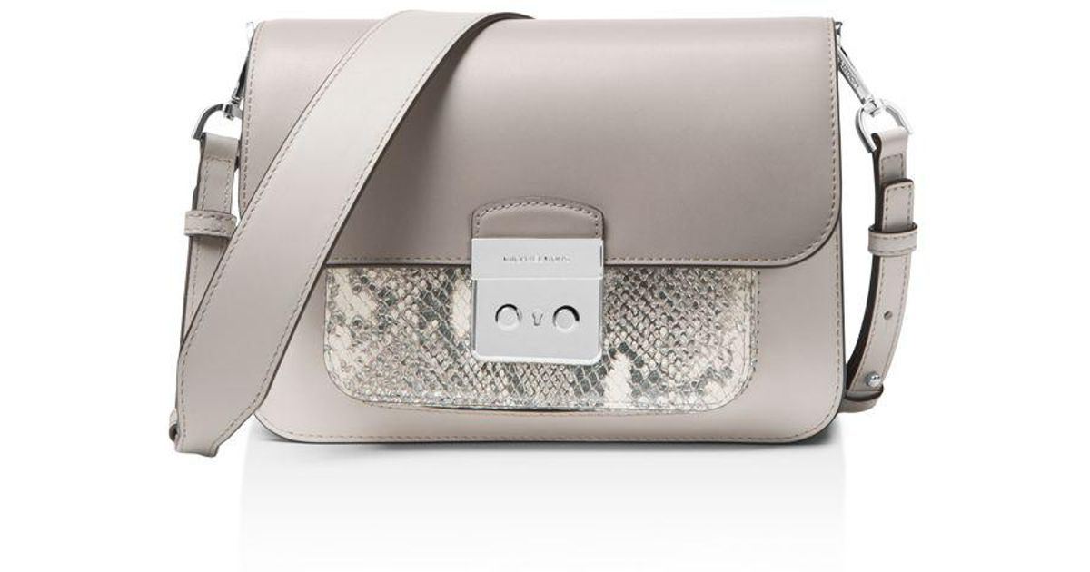 d414de5929bb ... coupon for michael michael kors sloan editor large leather shoulder bag  in metallic lyst 0cad7 26f30
