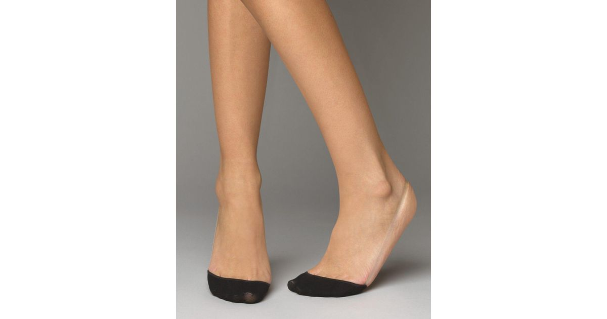 Hue Perfectly Bare Slingback Liner Socks In Black Lyst