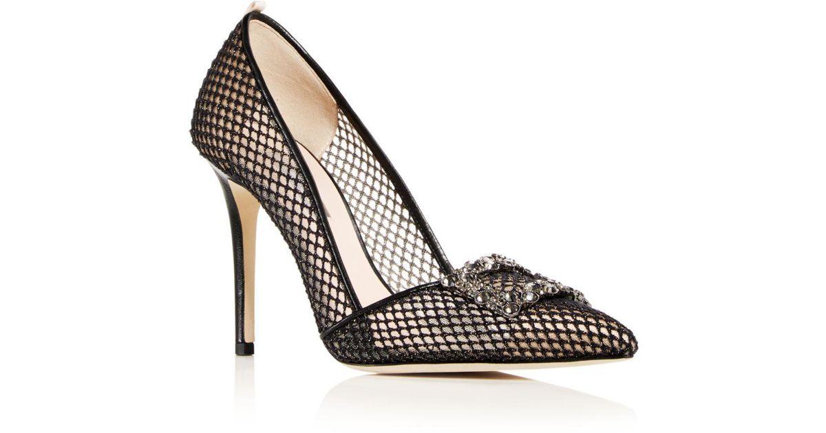 60008b0ce99b Lyst - SJP by Sarah Jessica Parker Windsor (black Habana Mesh) Women s Shoes  in Black - Save 16%