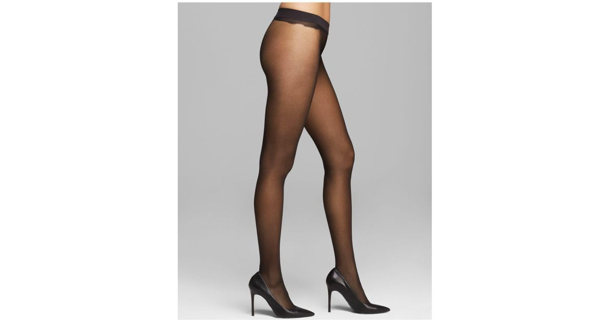 ef854a8ca Calvin Klein Sheer Essentials Seamless Tights in Black - Lyst