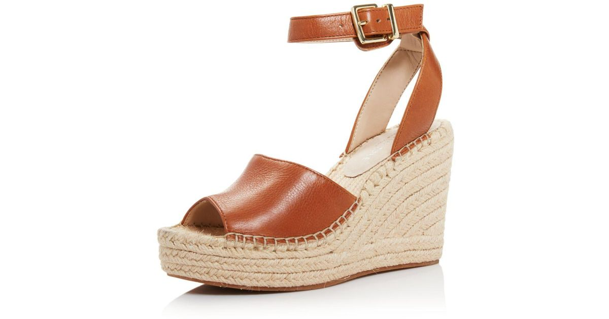 32f375cf05ce Lyst - Kenneth Cole Women s Olivia Two-piece Espadrille Wedge Sandals in  Brown