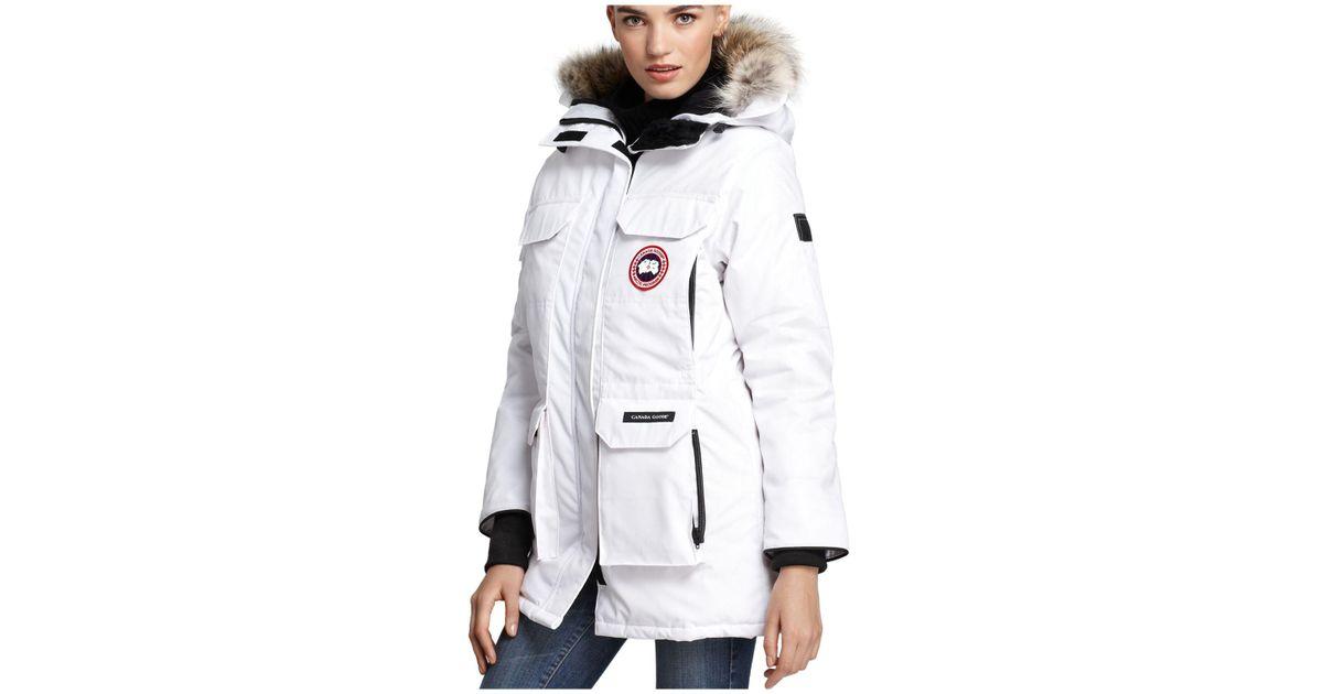 e08dd99da16b ... order lyst canada goose expedition parka in white 5a9c2 f133b