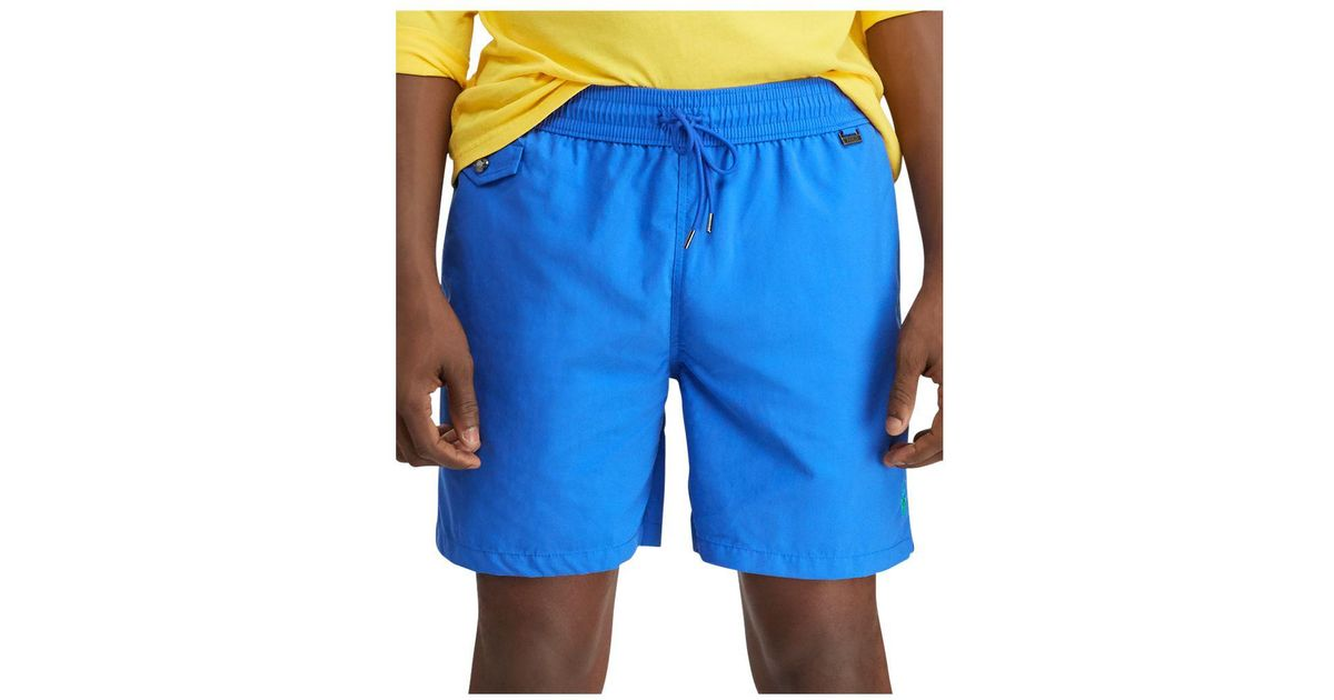 fd4bef5a56 Lyst - Polo Ralph Lauren Explorer Swim Shorts in Blue for Men