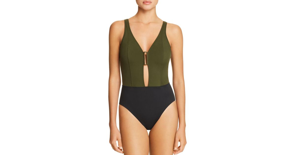 Miraclesuit Eclipse Ursa V-neck One Piece Swimsuit in Green - Lyst cb09f157c