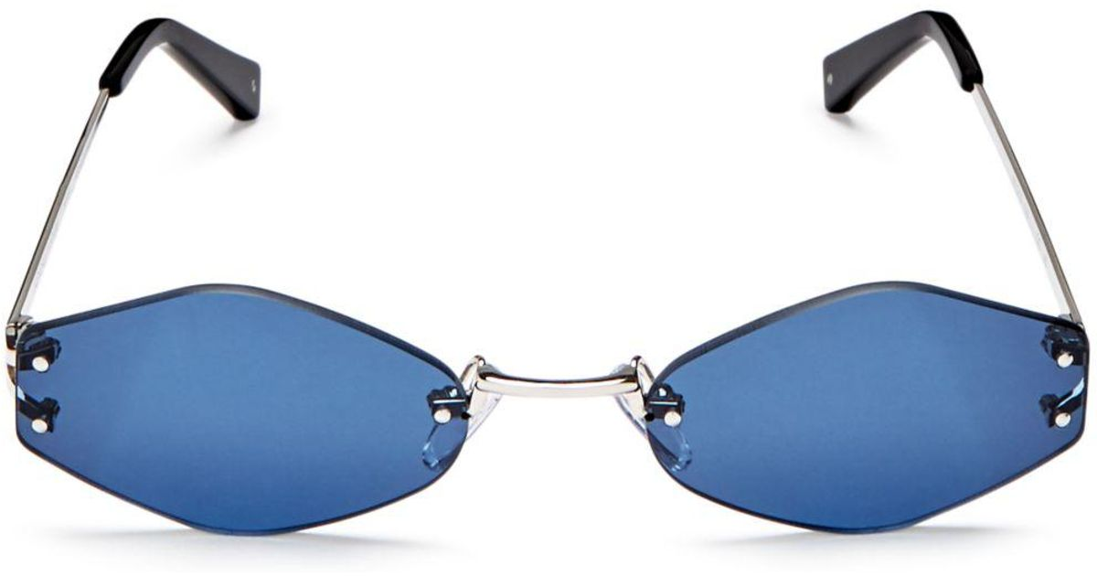 27366d6f49 Kendall + Kylie Kendall And Kylie Women s Kye Rimless Oval Sunglasses