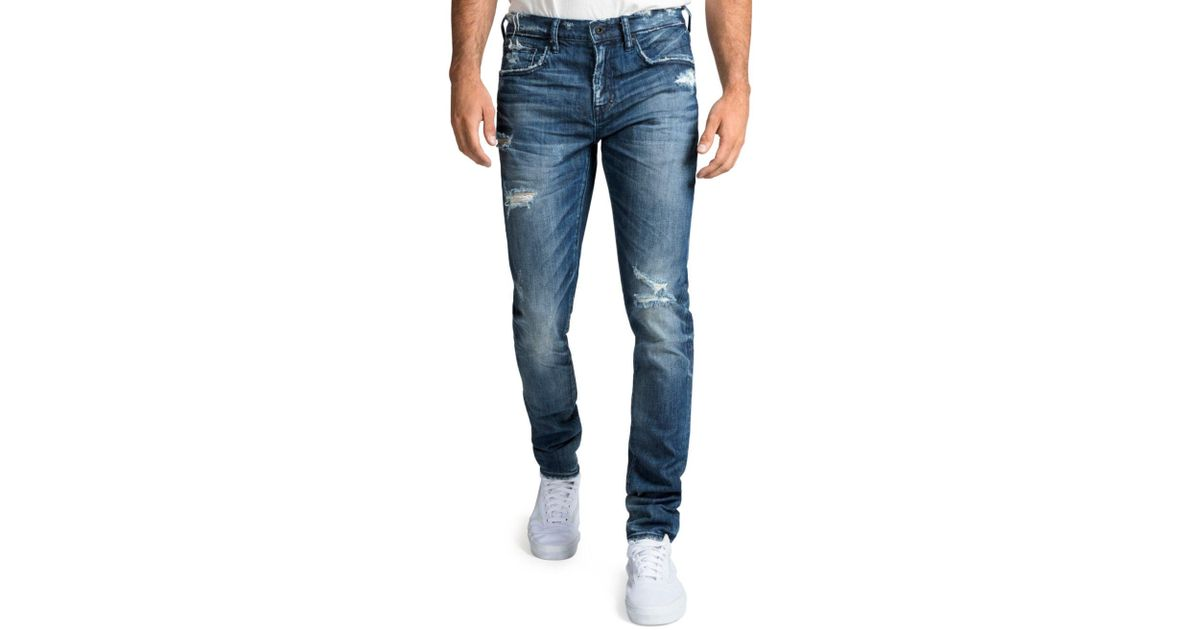 ca4785e0 Lyst - PRPS Men's Windsor Fit Stretch Denim Jeans With Rip/repair in Blue  for Men - Save 40%
