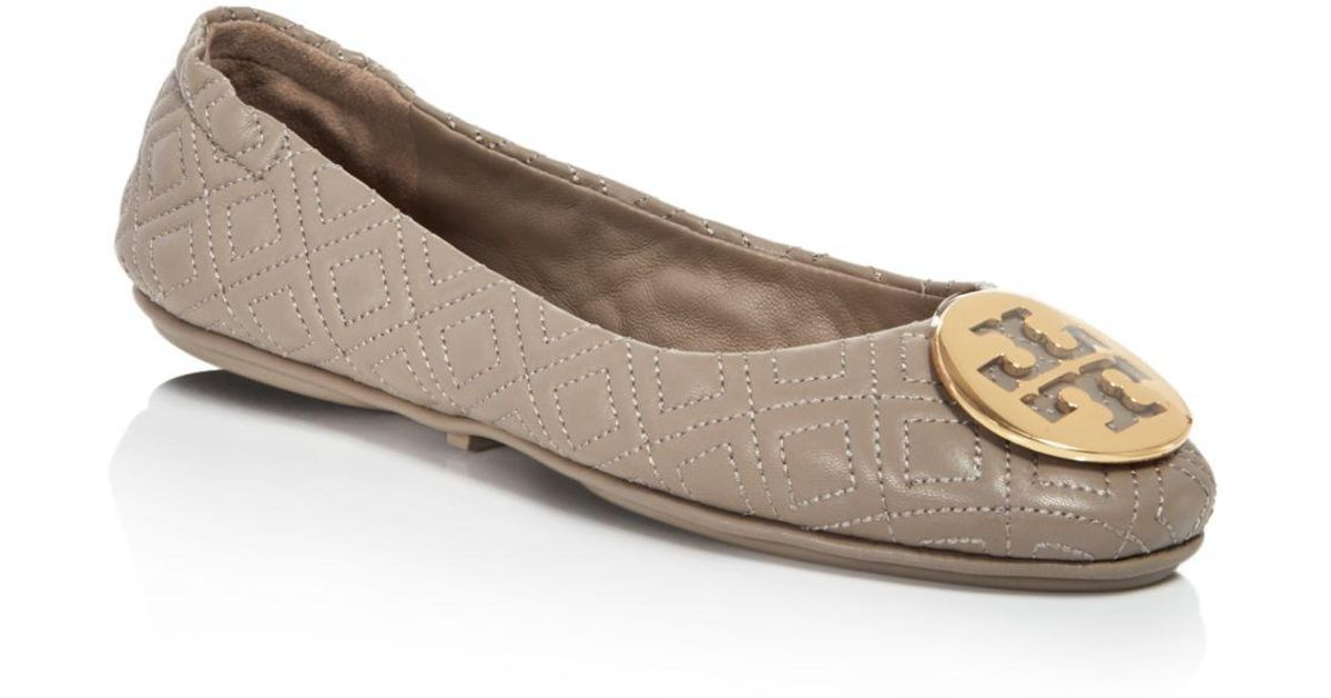 4782f8742d2 Tory Burch Women S Minnie Quilted Leather Travel Ballet Flats Lyst