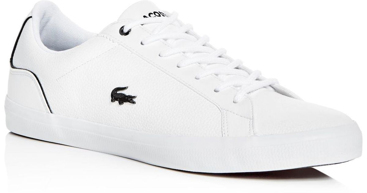 0de5631ad19cc8 Lyst - Lacoste Men s Lerond Leather Lace Up Sneakers in White for Men