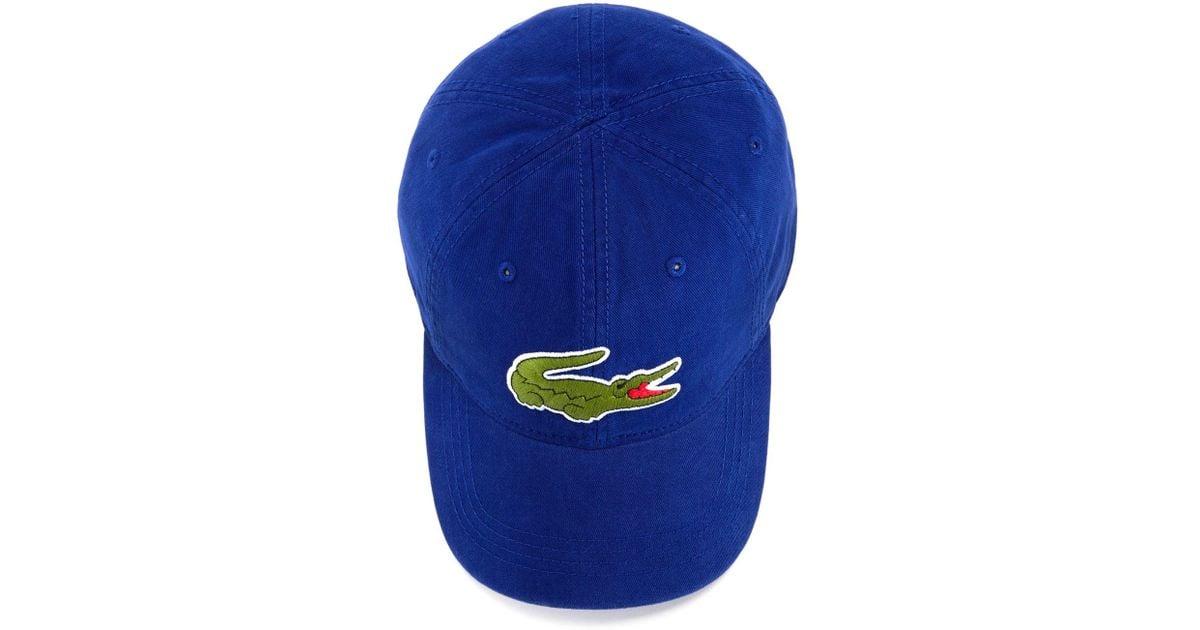 Lyst - Lacoste Big Croc Hat in Blue for Men c0167bc5b94
