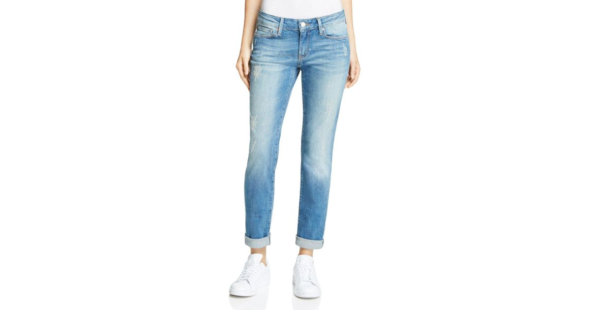 0becae61c07 Lyst - Mavi Emma Slim Boyfriend Jeans In Mid Shaded Vintage in Blue
