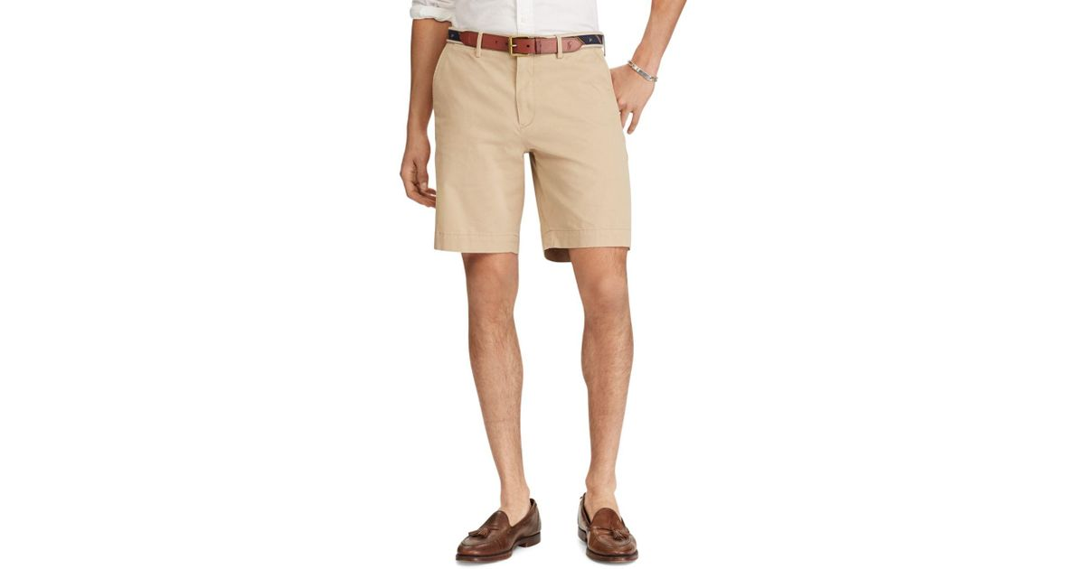 f42591c73e9f Polo Ralph Lauren Classic Fit Stretch Twill Shorts in Natural for Men - Lyst
